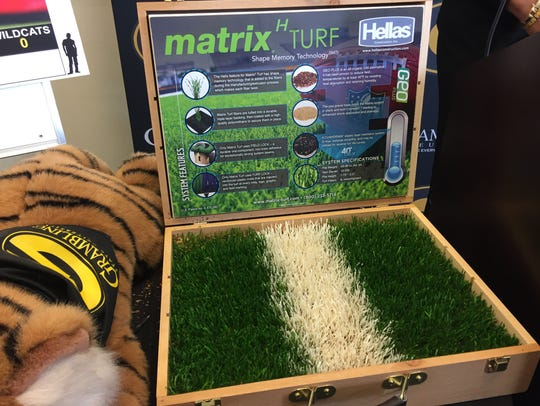 Pictured is the type of turf Grambling will install