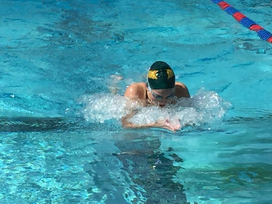 Moorpark High swimmer Cecilia Magnani won the 200 IM and the 500 free at the Coastal Canyon League swim championships.