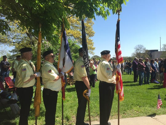 The color guard of the Vietnam Veterans of America