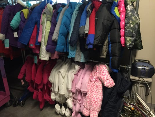 Storage room full of kids coats