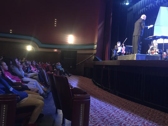 The Bay Atlantic Symphony hosted Vineland Public School fifth-graders at the Landis Theater Friday as part of its Young People's Concert Series.