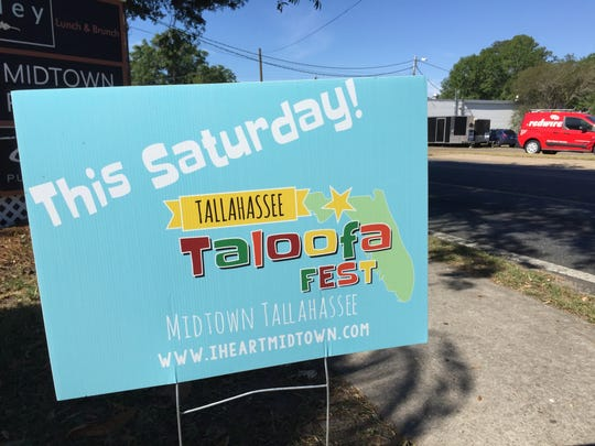 The third annual Taloofa Fest will be held Saturday in Midtown, between Fifth and Sixth avenues on Thomasville Road. The event starts at 3 p.m. and includes a history challenge run, music by local bands, plus exhibits and vendors.