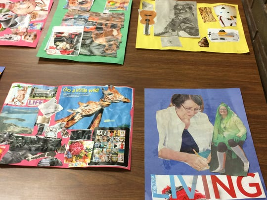 Sturgeon Bay students created vision boards as part of a mindful art class. The class was created for students, grades sixth through 12th, on the autism spectrum. Mindful art is one of three pilot classes at Sturgeon Bay School District this year.