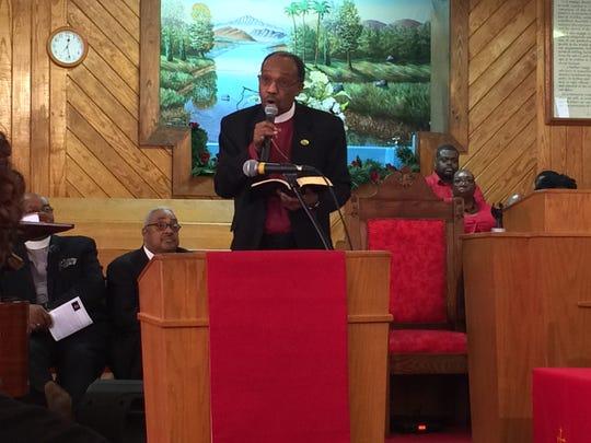 Guest speaker Bishop Henry M. Williamson, Sr. at the 42nd annual scholarship celebration.