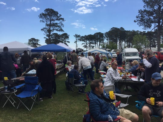 Around 2,700 people attended the 49th Annual Chincoteague Seafood Festival in Chincoteague, Virginia on Saturday, May 6, 2017.