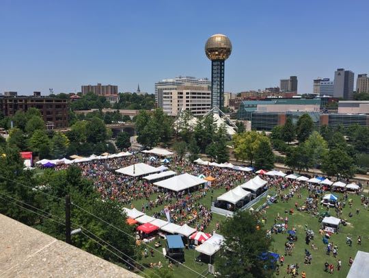 The Big Kahuna Wing Festival in World's Fair Park.