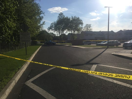 The entrance of Asselta Acres was closed Tuesday afternoon while police investigated a reported shooting involving two vehicles.