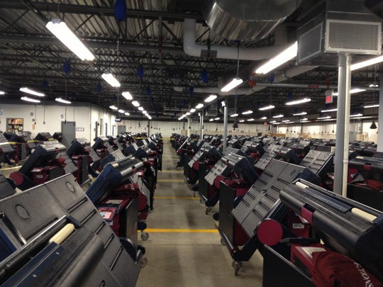 Voting machines stored in a Morris County warehouse in Cedar Knolls. William