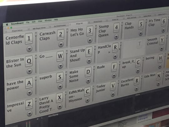 All of the music you hear at Frontier Field comes from this computer in the press box.