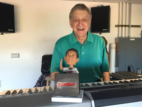 There's plenty of recorded music at Frontier Field, but organist Fred Costello remains a big part of the game presentation.