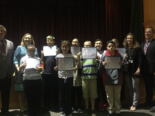 Winslow Elementary School students were commended for
