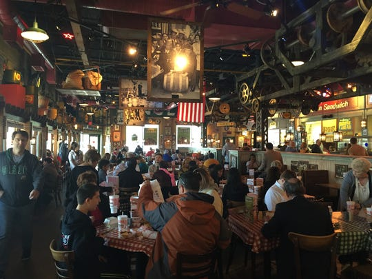 The Portillo's in Oak Lawn, Ill., is a popular dining spot on Saturday afternoons.