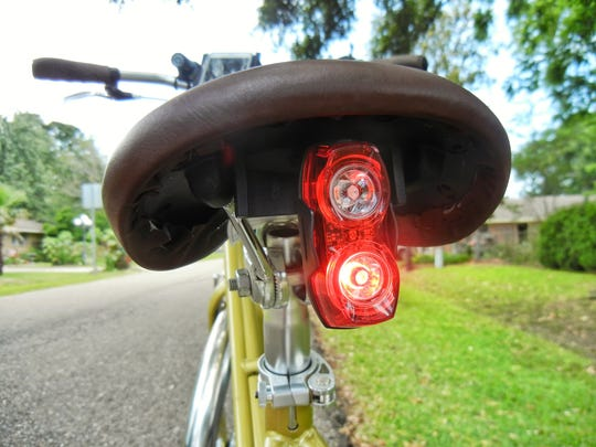 Bikes should be lit in the front and back for optimum visibility in low-light situations.