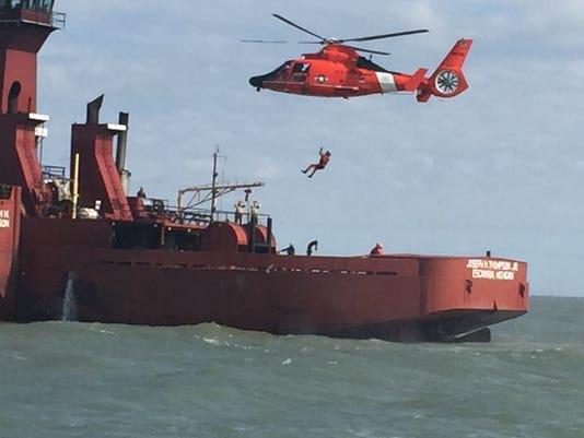 MEDEVAC hoist in Lake Erie