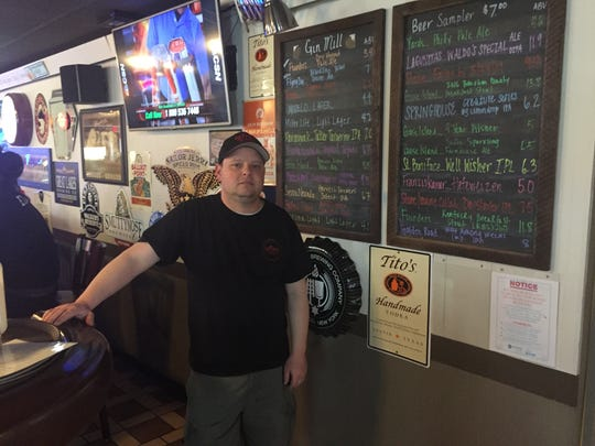 Mark Arnold has increased his craft beer options at the Gin Mill to match recent trends.
