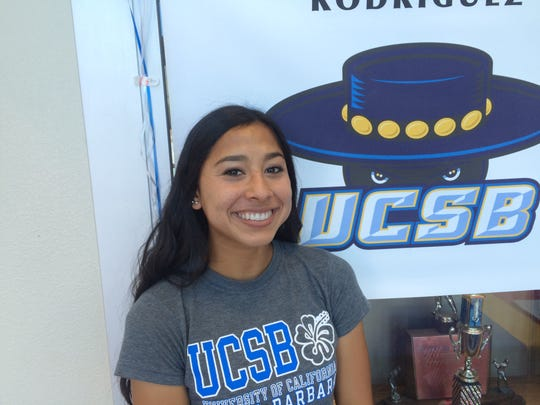 Indio senior Marisa Rodriguez signed her national letter of intent to run cross country and track for UC Santa Barbara.