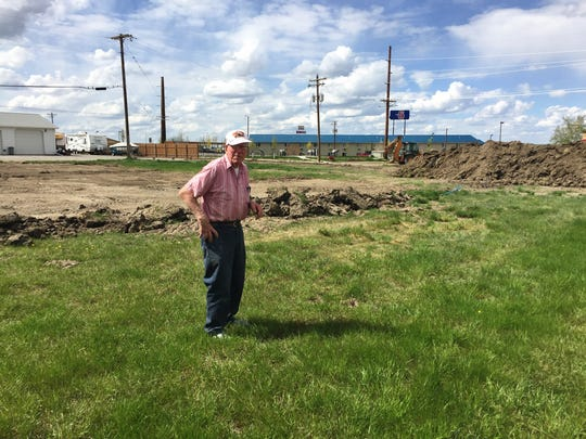 Harry Benjamin checks out the site that will be home