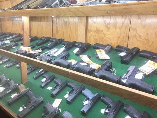 Hunter Simmons, COO of Simmons Sporting Goods in Bastrop, Louisiana, said handgun sales have decreased in recent months, but sales of hunting guns and accessories have been increasing.