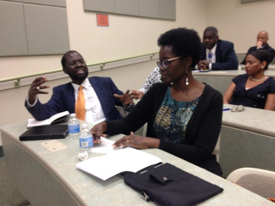 Peter and Dorothy Nyong'o at FAMU College of Pharmacy and Pharmaceutical Sciences.
