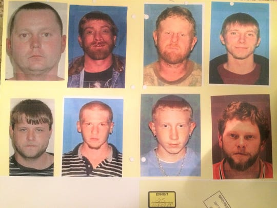 Becky Hill identified Adam Braseel, bottom center right,