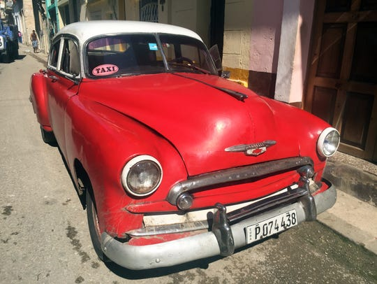 Classic cars from the 1950s are a common sight on the
