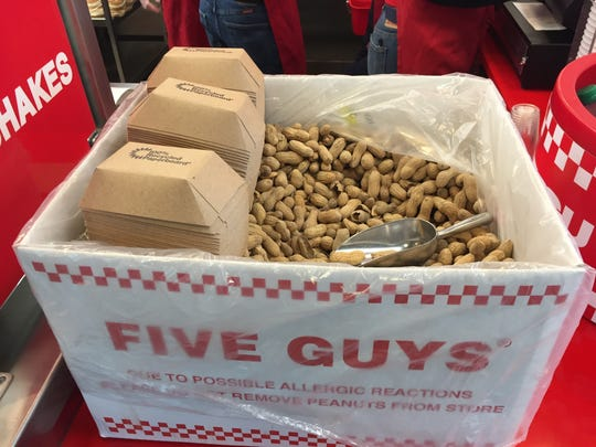 Five Guys opened a second restaurant in Vermont on Burlington's Church Street on May 16, 2017.
