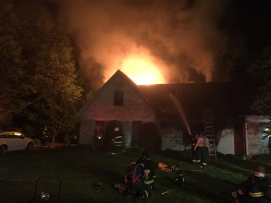 A fire late Tuesday night severely damaged a home in