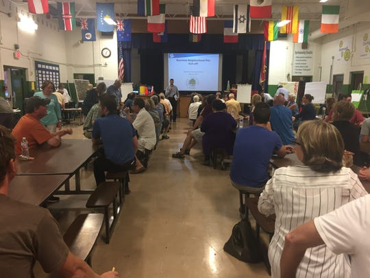About 100 Rountree residents met Tuesday night to kickoff