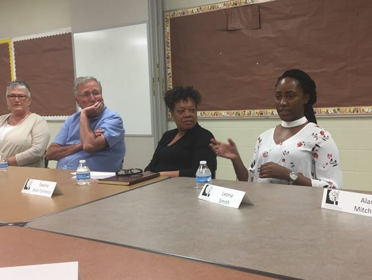 First-generation college student Leona Smith talks