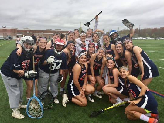 The Wappingers girls lacrosse team, comprised of players