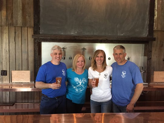 Fleur De Lis Brew Works co-founders (from left to right): Jon Paul, Beth, Jennifer, and Craig Partee.