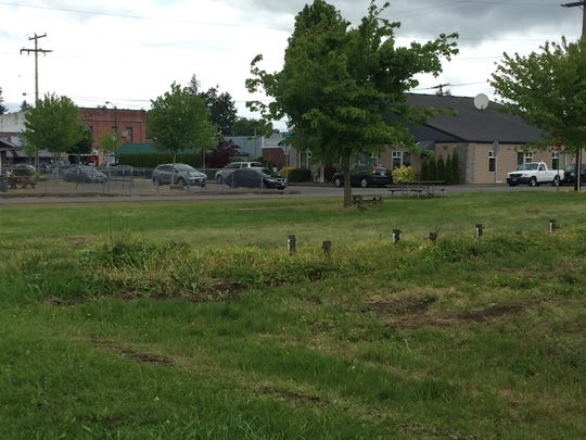 Future home of the Happy Tails Dog Park on the edge of downtown Stayton.