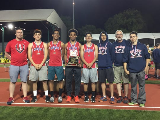 Kennedy's boys track and field team placed fourth at the OSAA Class 2A state track and field meet on Friday, May 19, 2017.