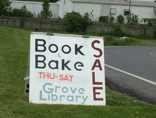 Used book sales last weekend drew crowds at both Grove