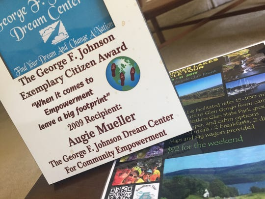 Augie Mueller was recognized with the Exemplary Citizen Award from the George F. Johnson Dream Center.
