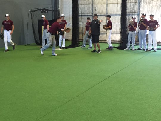 The Scorpions practice last week at The Baseball Factory