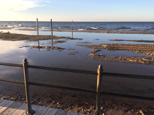 High waves and rising lake levels left Ontario Beach