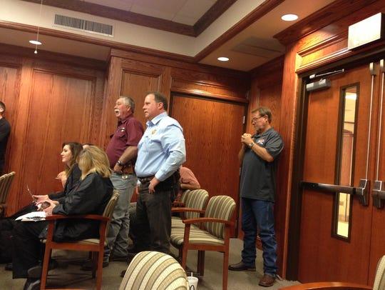 Wichita County Sheriff David Duke talks with Wichita