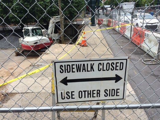 The city of Asheville has several sidewalk projects