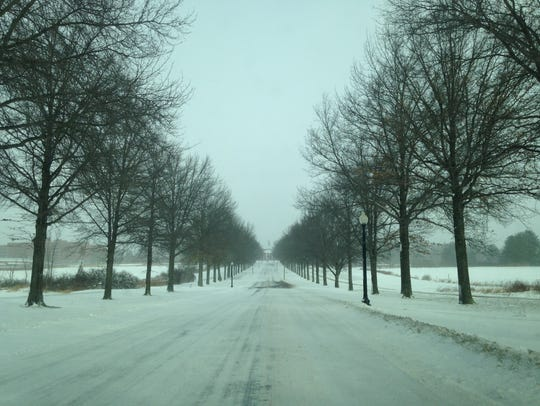 The roadway leading to Central New York Psychiatric