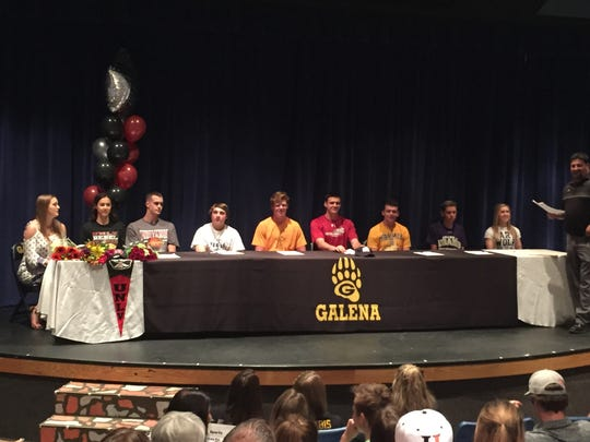 Galena held its Letter-of-Intent signing ceremony Thursday at the school.