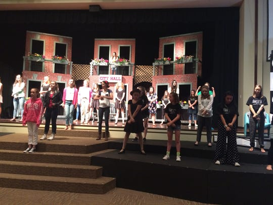 Students rehearse for annual youth musical at Northside United Methodist on May 24, 2017