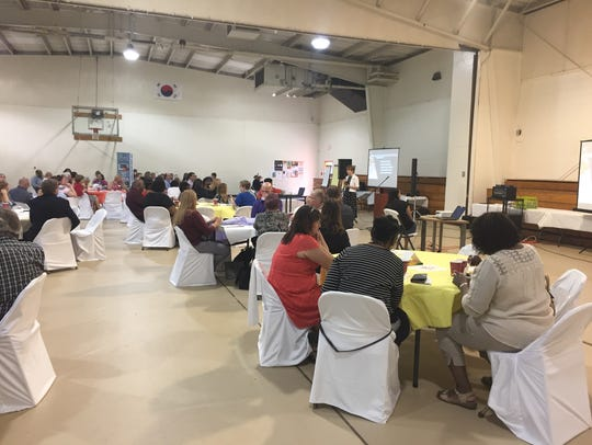 About 100 community members attended a May 24 community