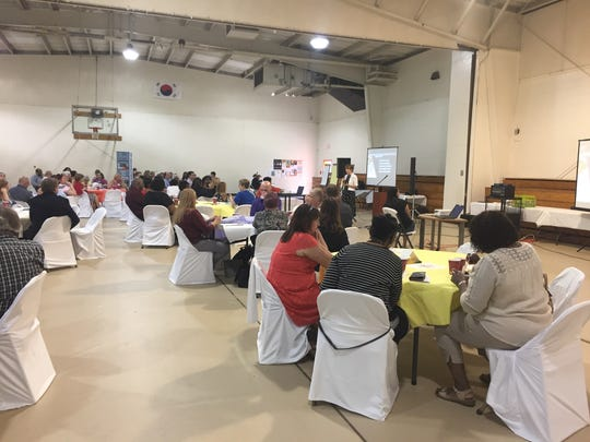 About 100 community members attended a May 24 community cafe to give input on Elmira's Empire State Poverty Reduction Initiative plan.