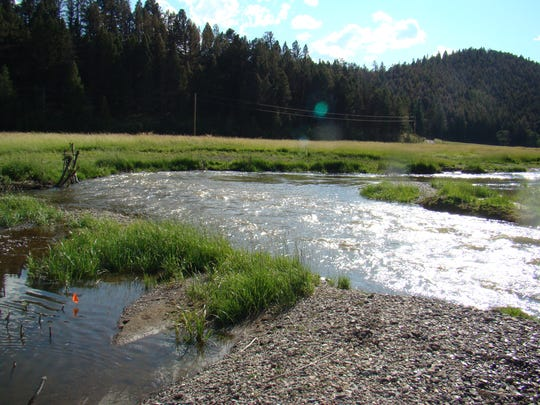 "This section of Nevada Creek on private land, a tributary of the Blackfoot River, was restored in 2010 by Montana Fish, Wildlife and Parks,  the U.S. Fish and Wildlife Service, Wildland Hydrology and several other partners. ""Those fish need those tributaries,"" says Ron Pierce, an FWP fisheries biologist."