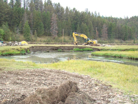 Nevada Creek on private land before it was restored.