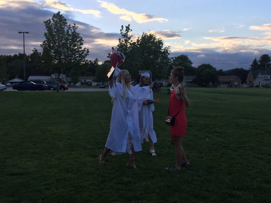Fairfield Area High School seniors celebrated with friends and family after graduating on Friday/