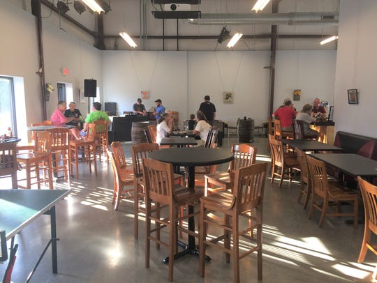 The spacious Hexagon Brewing Co. is available to rent for private events.