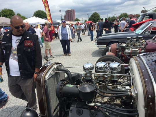 The day-long car show featured 20 local vendors, four bands and hosted both pin-up model and facial hair competitions. But the main attraction was the more than 300 cars on display throughout the day.