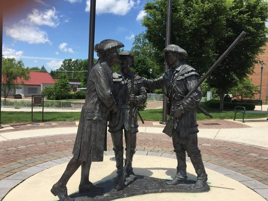 This statute of Chambersburg founder Ben Chambers,